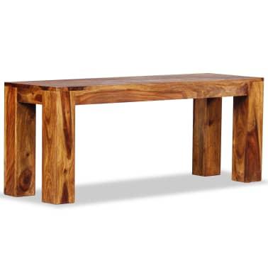 vidaXL Suoliukas, masyvi rausvoji dalbergijos mediena, 110x35x45cm[5/10]