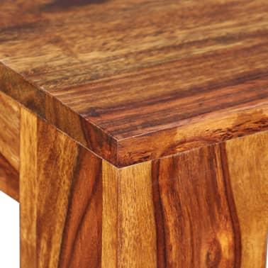 vidaXL Suoliukas, masyvi rausvoji dalbergijos mediena, 110x35x45cm[8/10]