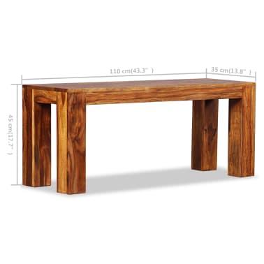 vidaXL Suoliukas, masyvi rausvoji dalbergijos mediena, 110x35x45cm[10/10]