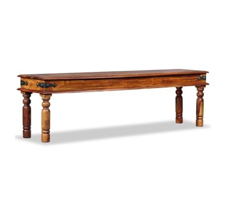vidaXL Suoliukas, masyvi rausvosios dalbergijos med., 160x35x45 cm[2/10]