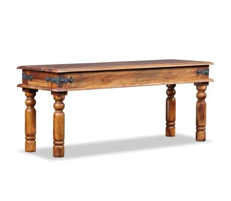 vidaXL Karališkas suoliukas, raus. dalbergijos mediena, 110x35x45cm[2/10]