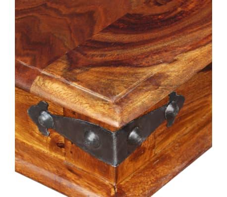 vidaXL Karališkas suoliukas, raus. dalbergijos mediena, 110x35x45cm[8/10]