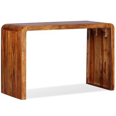 vidaxl sideboard schreibtisch massives sheesham holz braun g nstig kaufen. Black Bedroom Furniture Sets. Home Design Ideas