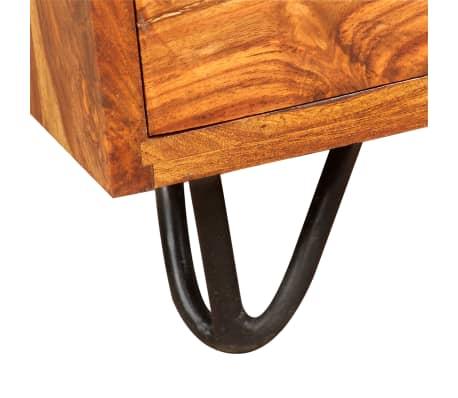 vidaXL Skrivebord med 1 skuffe og 1 skap heltre indisk rosentre[5/13]