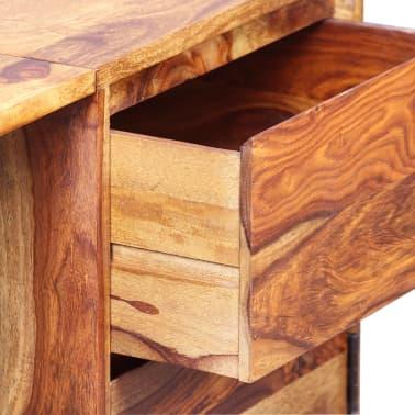 vidaXL Skrivebord med 1 skuffe og 1 skap heltre indisk rosentre[4/13]