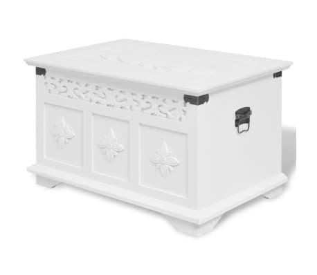 vidaXL Ensemble de deux coffres de rangement Blanc[2/6]