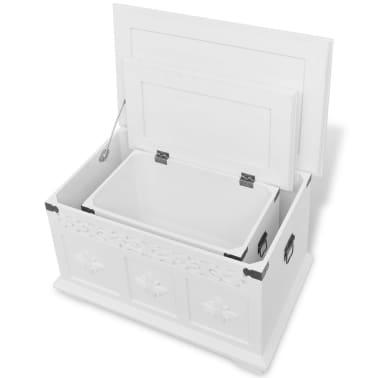 vidaXL Ensemble de deux coffres de rangement Blanc[4/6]