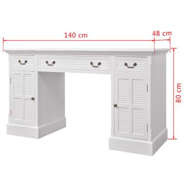 vidaxl schreibtisch sekret r wei 140 x 48 x 80 cm g nstig kaufen. Black Bedroom Furniture Sets. Home Design Ideas
