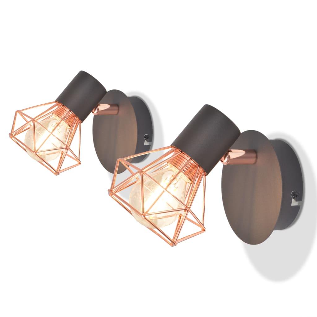 vidaXL Nástěnné lampy, 2 ks, 2 LED žárovky se žhavicím vláknem, 8 W