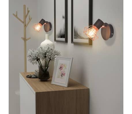 vidaXL Lámparas de pared 2 uds. con 2 bombillas de filamentos LED 8 W[3/12]