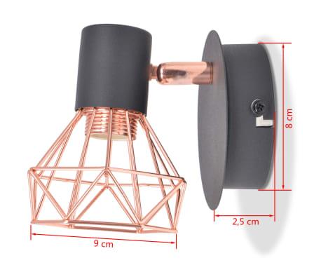 vidaXL Lámparas de pared 2 uds. con 2 bombillas de filamentos LED 8 W[10/12]