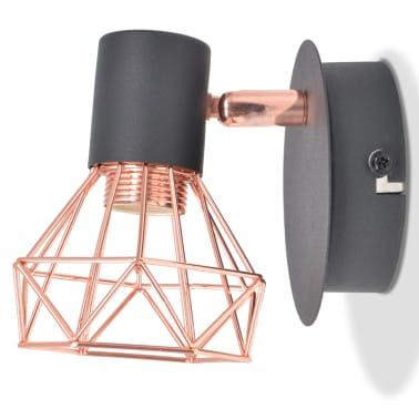 vidaXL Lámparas de pared 2 uds. con 2 bombillas de filamentos LED 8 W[6/12]