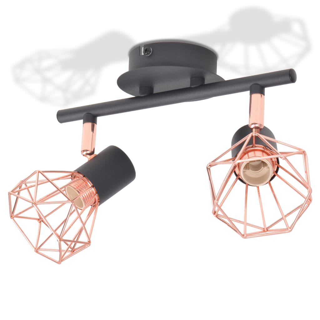 vidaXL Plafondlamp met 2 filament LED-lampen 8 W