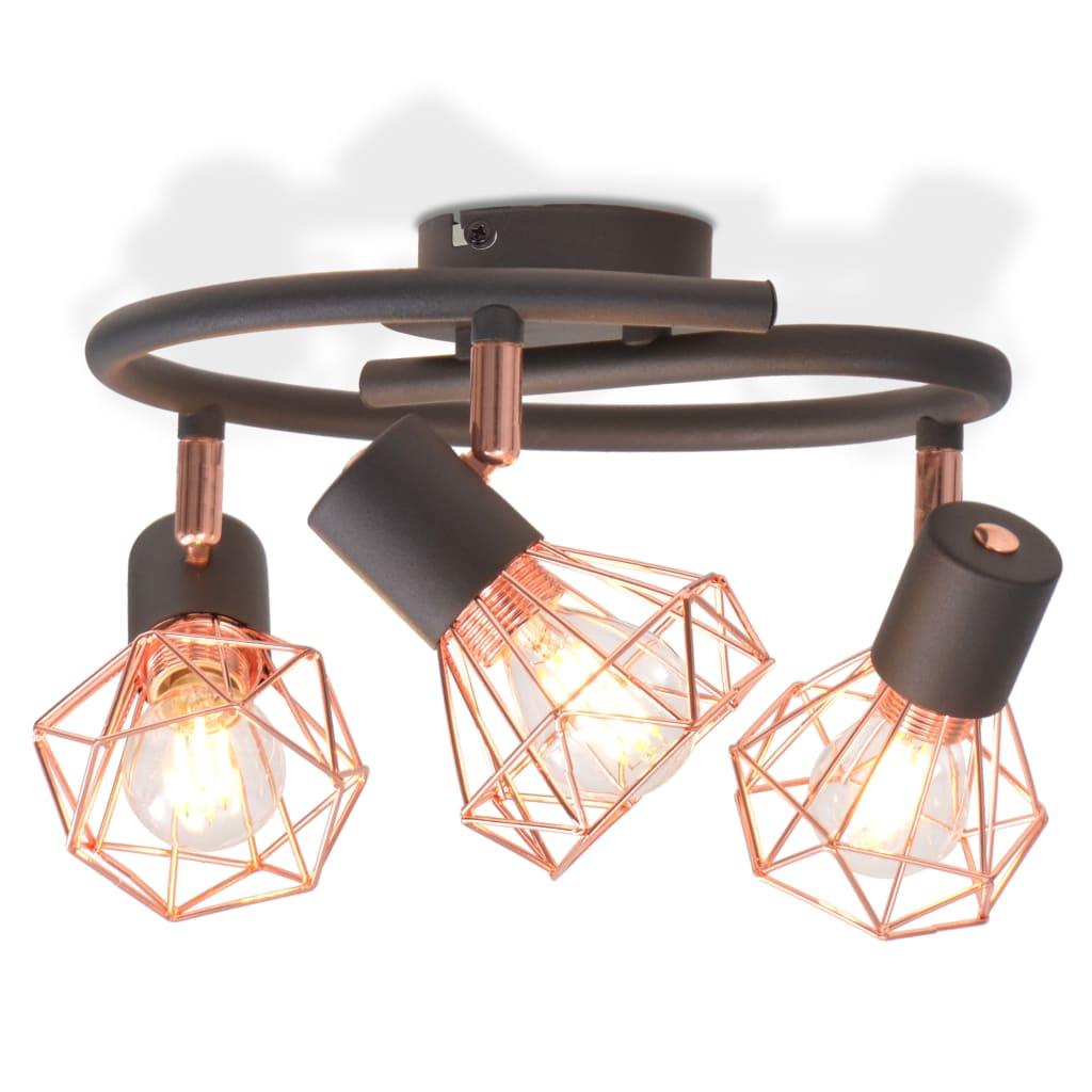 Stropní světlo se 3 LED žárovkami se žhavicím vláknem, 24 W