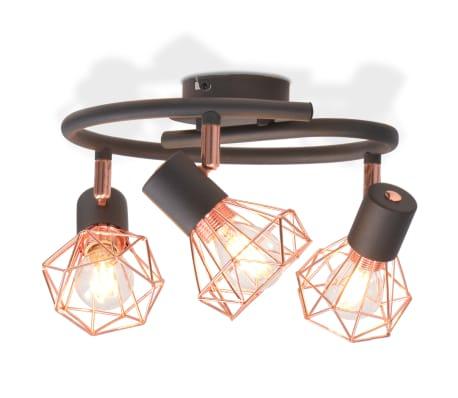 vidaXL Lámpara de techo con 3 bombillas de filamento LED 12 W-picture
