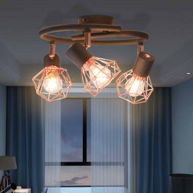 vidaXL Plafoniera con 3 Lampadine LED a Incandescenza 12 W[2/9]
