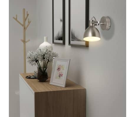 vidaXL Wall Lamps 2 pcs for 2 Bulbs E14 Grey[2/10]