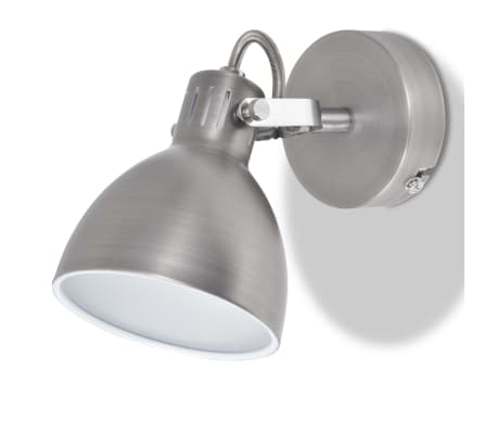 vidaXL Wall Lamps 2 pcs for 2 Bulbs E14 Grey[5/10]