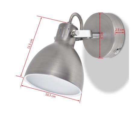 vidaXL Wall Lamps 2 pcs for 2 Bulbs E14 Grey[8/10]