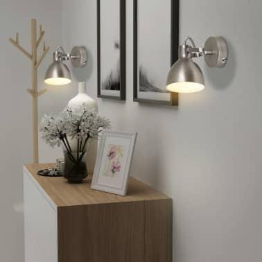 vidaXL Wall Lamps 2 pcs for 2 Bulbs E14 Grey[3/10]