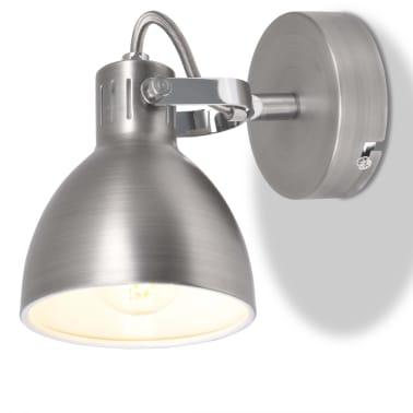 vidaXL Wall Lamps 2 pcs for 2 Bulbs E14 Grey[4/10]