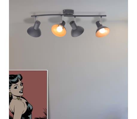 acheter vidaxl plafonnier pour 4 ampoules e27 noir et dor pas cher. Black Bedroom Furniture Sets. Home Design Ideas