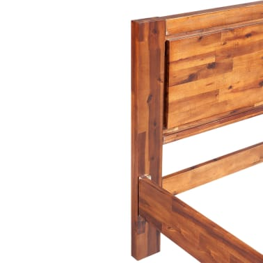 vidaXL Bed Frame Solid Acacia Wood Brown King Size[8/8]