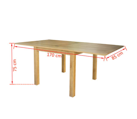 "vidaXL Extendable Table Oak 67""x33.5""x29.5""[6/7]"