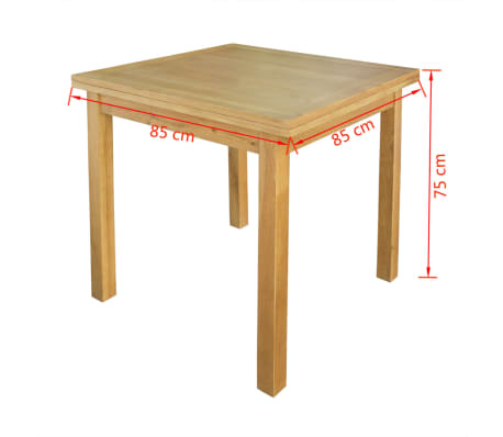 "vidaXL Extendable Table Oak 67""x33.5""x29.5""[7/7]"