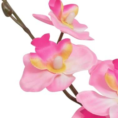 vidaXL kunstig orkidéplante med urtepotte 30 cm pink[2/2]