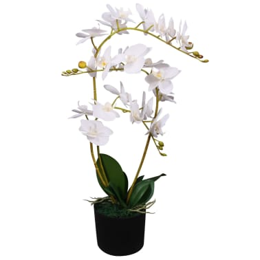vidaXL Konstväxt Orkidé med kruka 65 cm vit[1/2]