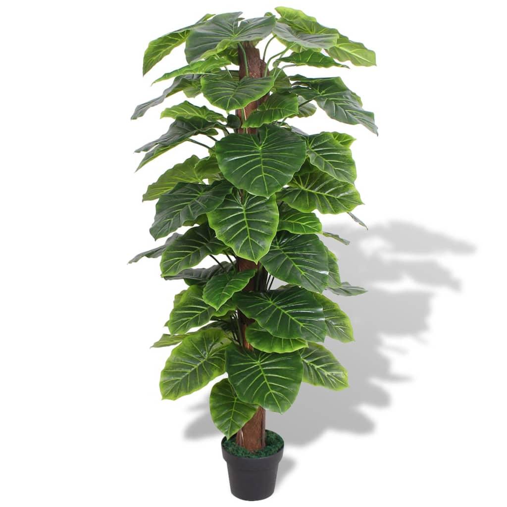 vidaXL Plantă artificială Taro cu ghiveci, 145 cm, verde imagine vidaxl.ro