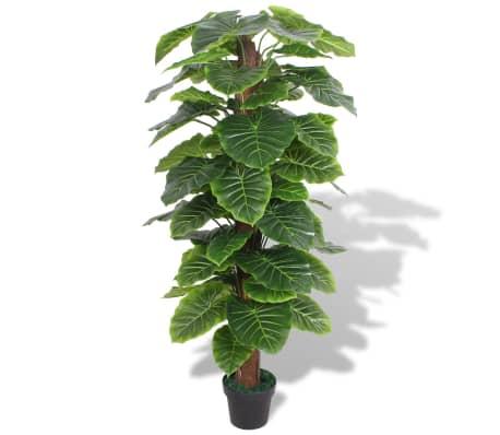 vidaXL Plantă artificială Taro cu ghiveci, 145 cm, verde