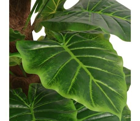 vidaXL Konstväxt Taro med kruka 145 cm grön[2/2]