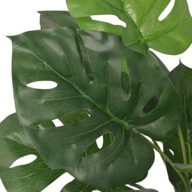 vidaXL kunstig monstera-plante med potte 45 cm grøn[2/2]