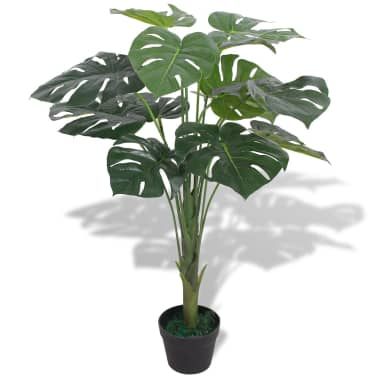 "vidaXL Artificial Monstera Plant with Pot 27.6"" Green[1/2]"