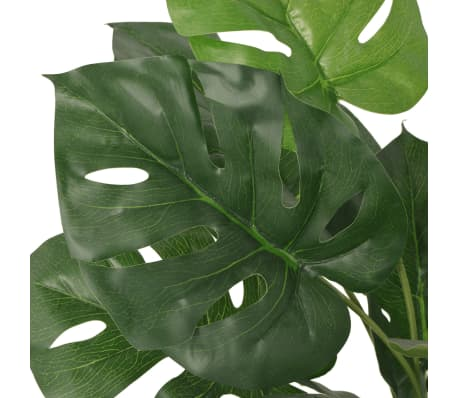 "vidaXL Artificial Monstera Plant with Pot 27.6"" Green[2/2]"