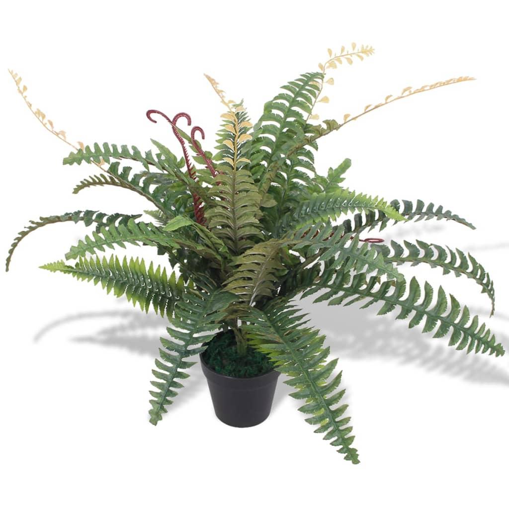 99244438 Künstliche Farnpflanze mit Topf 60 cm Grün