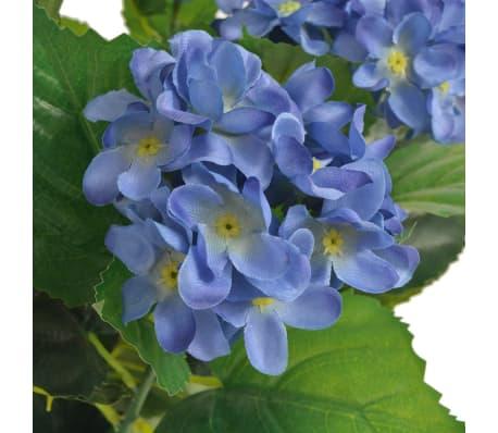 vidaXL Konstväxt Hortensia med kruka 60 cm blå[2/2]