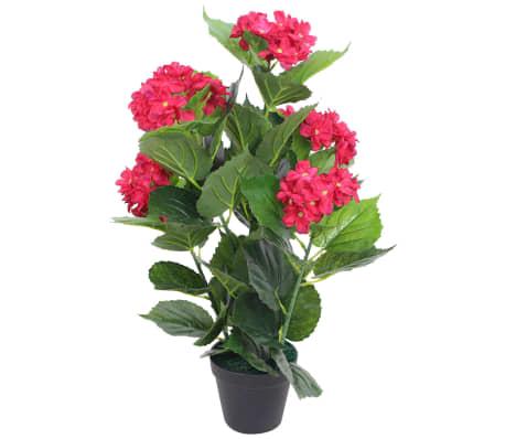 vidaXL Kunst hortensia plant met pot 60 cm rood[1/2]