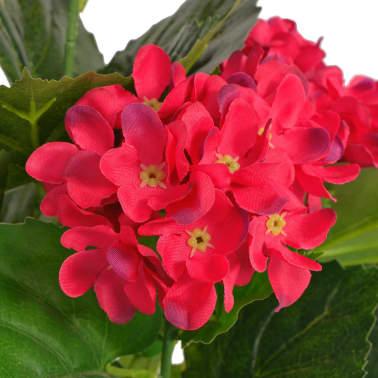vidaXL Kunst hortensia plant met pot 60 cm rood[2/2]