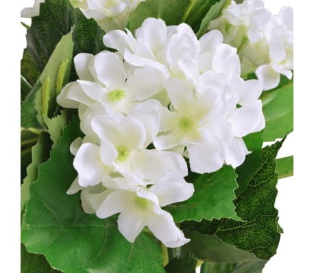 acheter vidaxl plante hortensia artificielle avec pot 60 cm blanc pas cher. Black Bedroom Furniture Sets. Home Design Ideas
