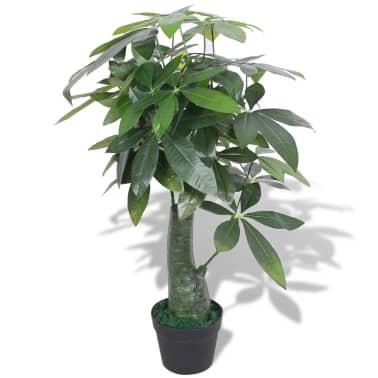 vidaXL Kunst watercacao plant met pot 85 cm groen[1/2]