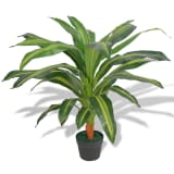 "vidaXL Artificial Dracaena Plant with Pot 35.4"" Green"