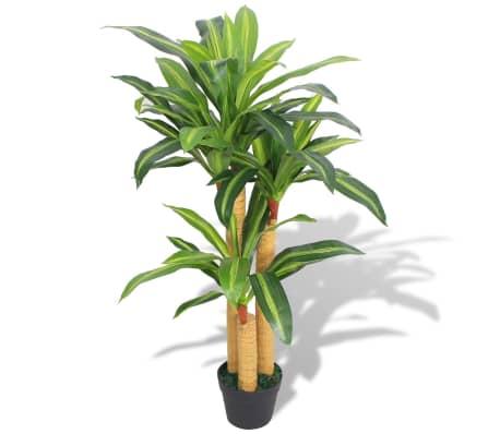vidaXL Planta de drácena artificial con maceta 100 cm verde[1/2]