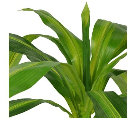 vidaXL Planta de drácena artificial con maceta 100 cm verde[2/2]