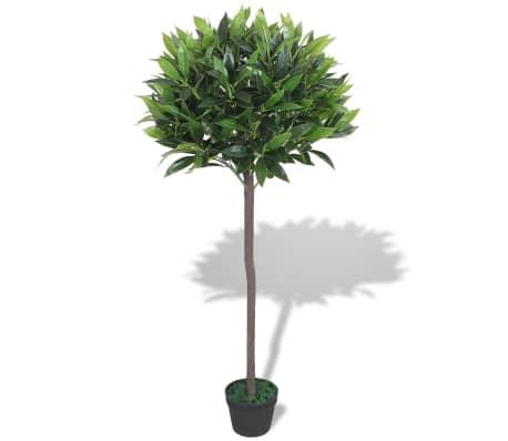 vidaXL Künstlicher Lorbeerbaum mit Topf 125 cm Grün