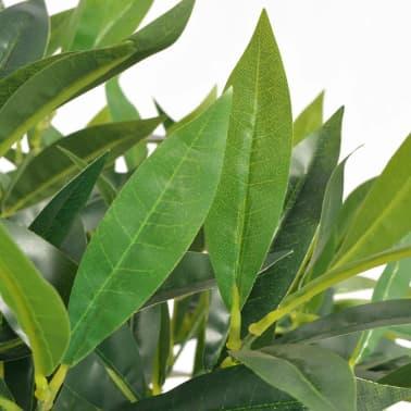 vidaXL kunsttaim laakeripuu potiga 125 cm, roheline[2/2]