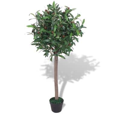 Vidaxl Artificial Bay Tree Plant With Pot 120 Cm Green Vidaxlcouk
