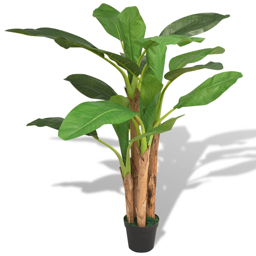 vidaXL Bananier artificial cu ghiveci, 175 cm, verde vidaxl.ro